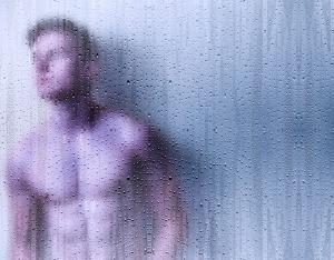 man shower